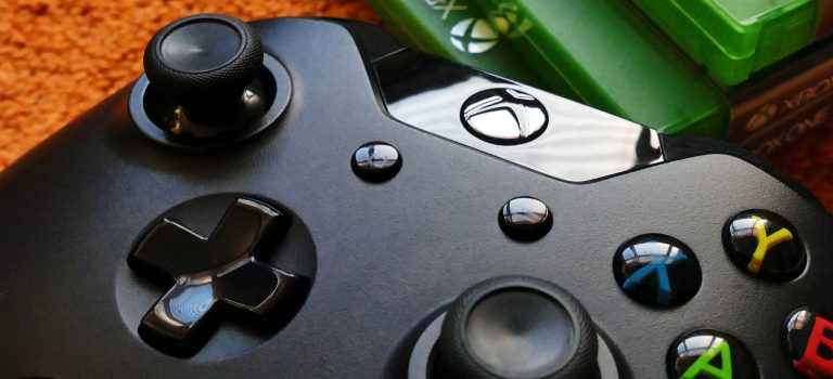 Close up of an Xbox controller